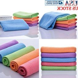 1/5 Pcs Square Tea Towels Kitchen Towels Quick Dry Hair Towe