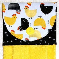 Hanging Hand Towel - Kitchen Towel - Plush Yellow Towel - Ye