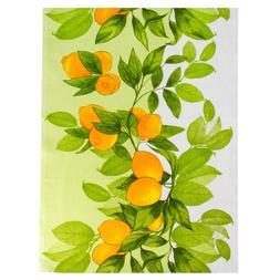 100% Natural Cotton Kitchen Towel Lemons Art 20x27 Dish Clot