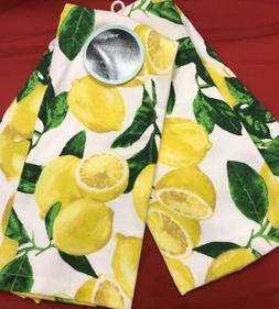 "100% Cotton Beautiful One Set Of 2 Kitchen Towels 28x18"" Cyn"
