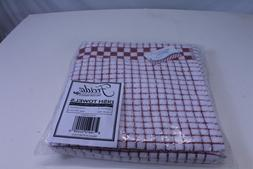 100% Cotton Kitchen Dish Towels with Hanging Loop Set of 2 R