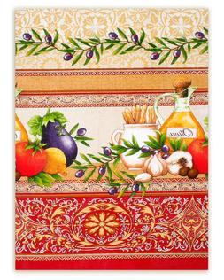 "100% Cotton Kitchen Towel w/ Greek Style Print 20x28"" Dishcl"