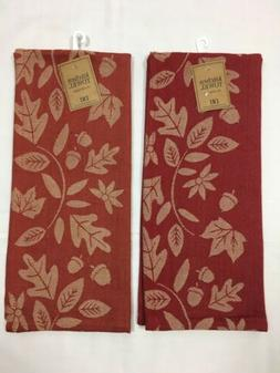 "DII 100% Cotton Kitchen Towels Harvest Vine Jacquard 18"" x 2"