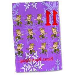 3dRose 12 Days of Christmas Eleven Pipers Piping… Towel, 1
