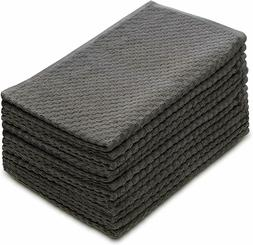 Cotton Craft 12 Pack Euro Cafe Waffle Weave Terry Kitchen To