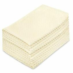 Cotton Craft - 12 Pack - Euro Cafe Waffle Weave Terry Kitche