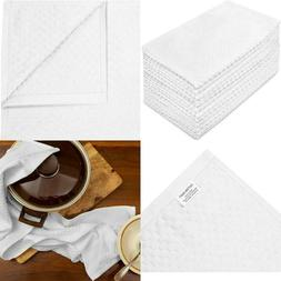 Cotton Craft -12 Pack -Euro Cafe Waffle Weave Terry Kitchen