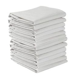 12 Pack Flour Sack Dish Cloth Tea Towels Chef Kitchen 100% P