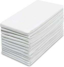 COTTON CRAFT -12 Pack Flour Sack Kitchen & Dish Towels White