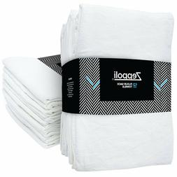 "Zeppoli 12-Pack Flour Sack Towels - 31"" x 31"" Kitchen Towels"