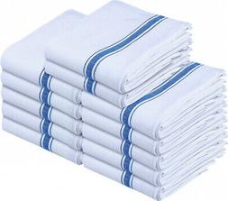 12- Pack White 100% Cotton Kitchen Towels 15 x 25 inches Dis