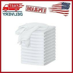 12-Pack White Flour Sack Towels 100% Ring-Spun Cotton Home K