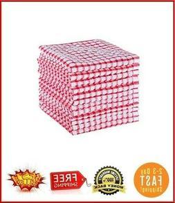 12 Pcs Dish Cloth 100% Cotton Kitchen Towels Lot Set White R