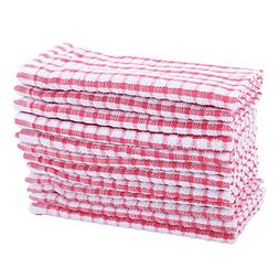 12 Pcs Dish Cloth 100% Cotton Kitchen Towels Lot Set White R