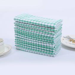 12 Pcs Dish Cloth 100% Cotton Kitchen Towels Lot Set White B