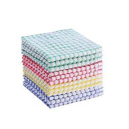 12 Pieces Dish Towel 100% Cotton Kitchen Towels Lot Set Mix
