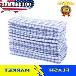 12 Pcs Dish Cloth Cotton Kitchen Scrubbing Towels Lot Set Wh