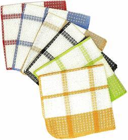 12 Piece 100% Cotton Waffle Weave Kitchen Dishlcloths,13x13