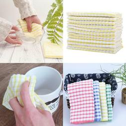 12 Pieces Dish Towel 100% Cotton Kitchen Towels Lot Set Whit