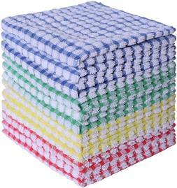 """12pcs Kitchen Towels Cotton Terry Dish Cloths Set 12x12"""" Abs"""