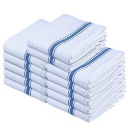 13 Pack Kitchen Towels Set Cotton White Dish Cloths Tea Towe