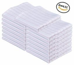 15 PACK, COTTON GLASS POLISHING TOWEL 100% COTTON ABSORBENT