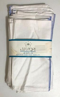 Royal 15 Pack 100% Natural Cotton Classic Kitchen Dish Towel