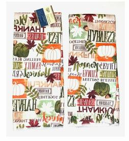 2 Fall Autumn/Thanksgiving Home Collection Kitchen Towels FR