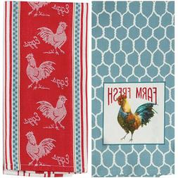 Kay Dee Designs On The Farm Cotton Kitchen Towels Chicken T