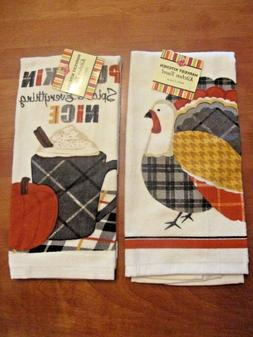 2 RITZ KITCHEN TOWELS, FALL SEASON AND COLORS Retails $20