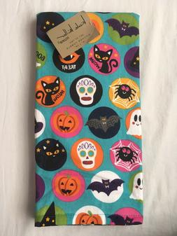 2 Halloween Kitchen Hand Dish Towels, Gift Home Witch, Pumpk