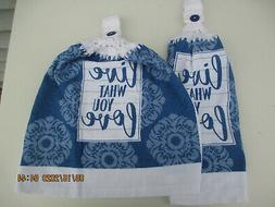 2 Hanging Kitchen Dish Towels With Crochet Tops Live What Yo