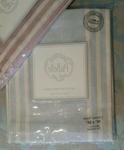 2 Piu Belle Kitchen Towel Cotton Tea Towels striped jacquard