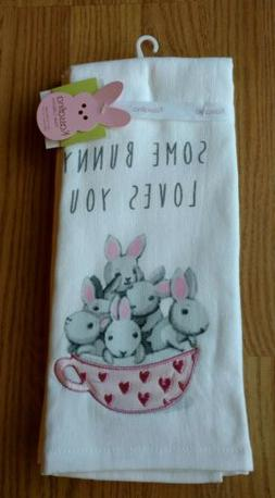 KASSAFINA 2 Kitchen Towels Dish Easter Bunnies Buuny Rabbits