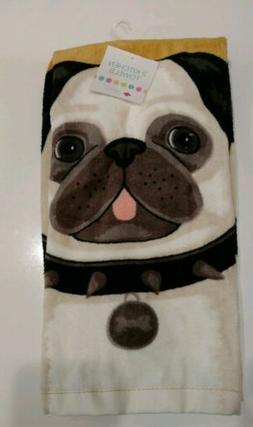 RITZ 2 Kitchen Towels Dish Hand Dogs Bulldog Brown Cotton NE