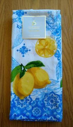 Deborah Connolly Designs 2 Kitchen Towels Dish Lemons Fruits