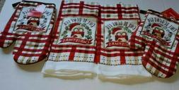 "2 Kitchen Towels Holiday X-mas ""Owl Be Home For Christmas"""