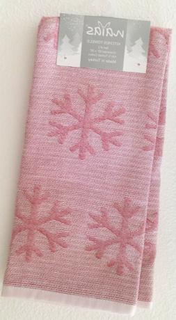 Snowflakes High End Embroidered Turkish Cotton Towel Kitchen Tea Many Colors