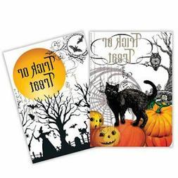 2 Michel Design Works Cotton Kitchen Towels Halloween Black