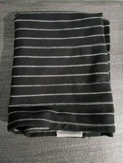 2 NEW Kitchen Towels Set Black White Stripe 100% Cotton Soho
