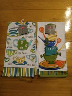 2-Pack Ritz Tea Pot Tea Cup Pot Bowls Kitchen Towels Tea Tow