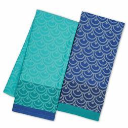 2 Piece Set Design Imports SCALLOPS Jacquard Weave 100% Cott