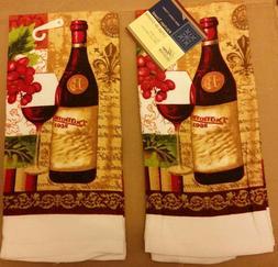 2 same printed kitchen towels 15 x