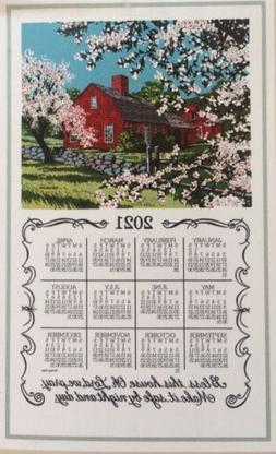 2019 Bless This House Linen Calendar Towel