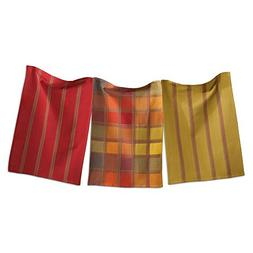 tag 203571 Checks and Stripes Dishtowel, 18 by 26-Inch, Gree