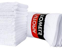 24 pack washcloths cotton white 12x12 inch