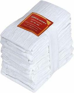 Utopia Kitchen Flour Sack Dish Towels, 12 Pack Cotton Kitche