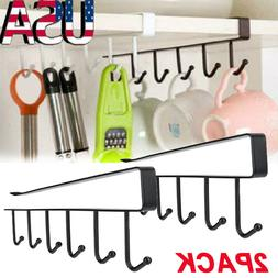 2Pack Kitchen Under Cabinet Towel Cup Paper Hanger Rack Orga