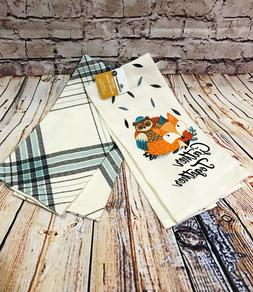 2pk cotton kitchen towels gather together 25