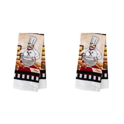 2X Home Collection Chef-Themed Kitchen Towels, 15x25 in. BRA